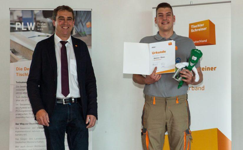 INUMA-Tischlergeselle Johannes Bänsch ist Deutscher Meister
