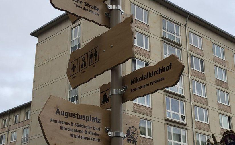 INUMA-Zaun schützt neue Weihnachtsmarkt-Attraktion in Leipzig