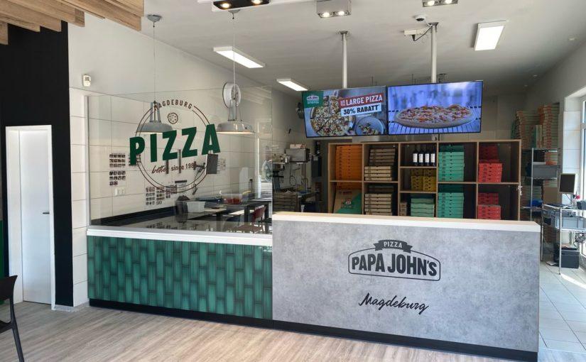 INUMA realisiert Innenausbau für Papa John's Pizza